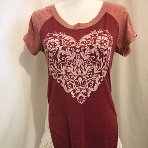 Daytrip Short Sleeve Shirt with Lace Back